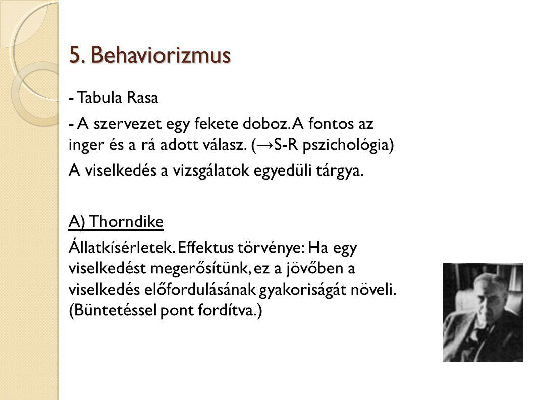 5. Behaviorizmus - Tabula Rasa