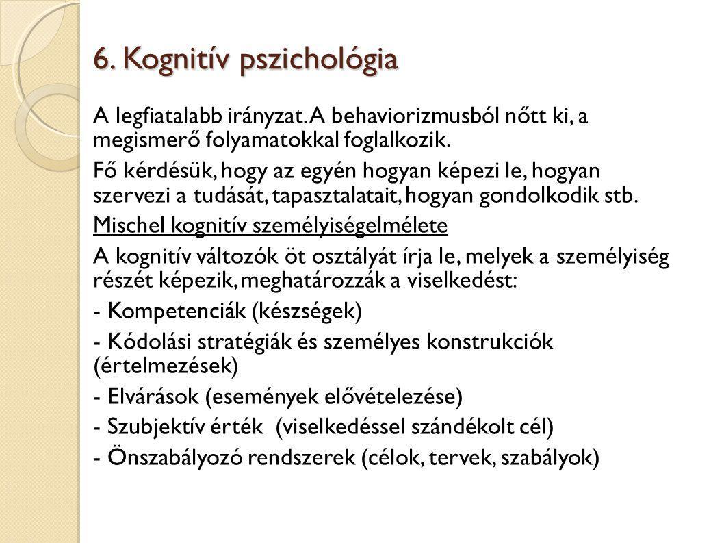 6. Kognitív pszichológia