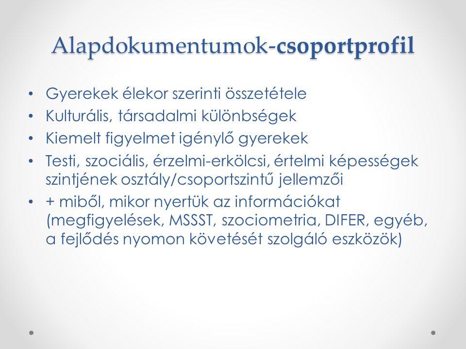 Alapdokumentumok-csoportprofil