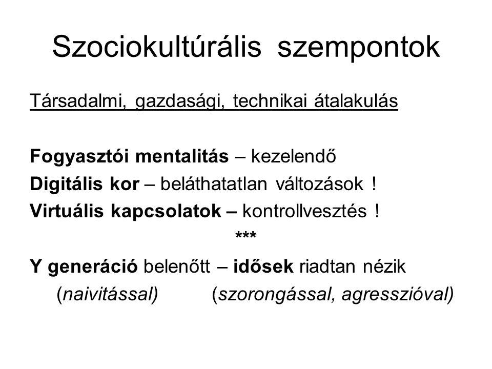 Szociokultúrális szempontok