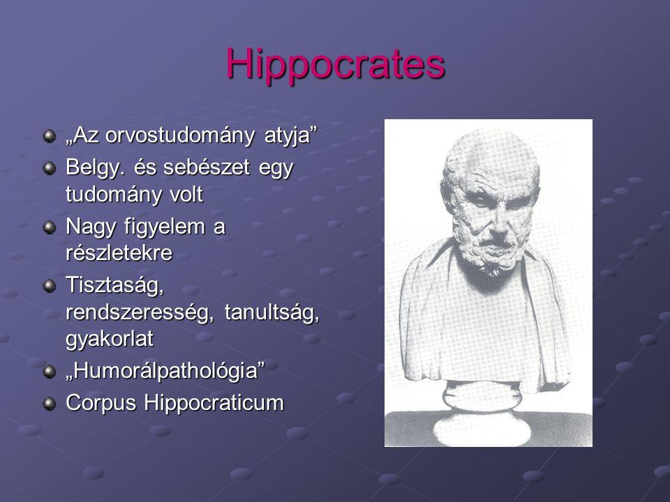 """Hippocrates """"Az orvostudomány atyja"""
