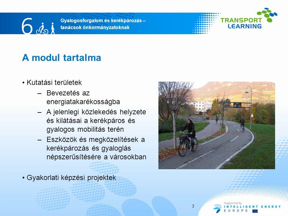 A modul tartalma Kutatási területek Bevezetés az energiatakarékosságba