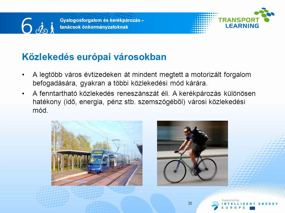 Közlekedés európai városokban