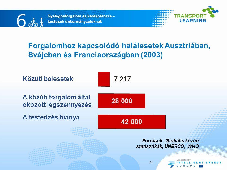 Forgalomhoz kapcsolódó halálesetek Ausztriában, Svájcban és Franciaországban (2003)
