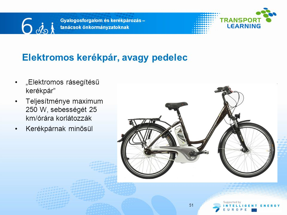 Elektromos kerékpár, avagy pedelec