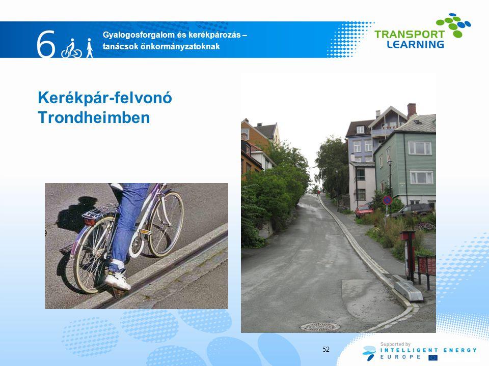 Kerékpár-felvonó Trondheimben