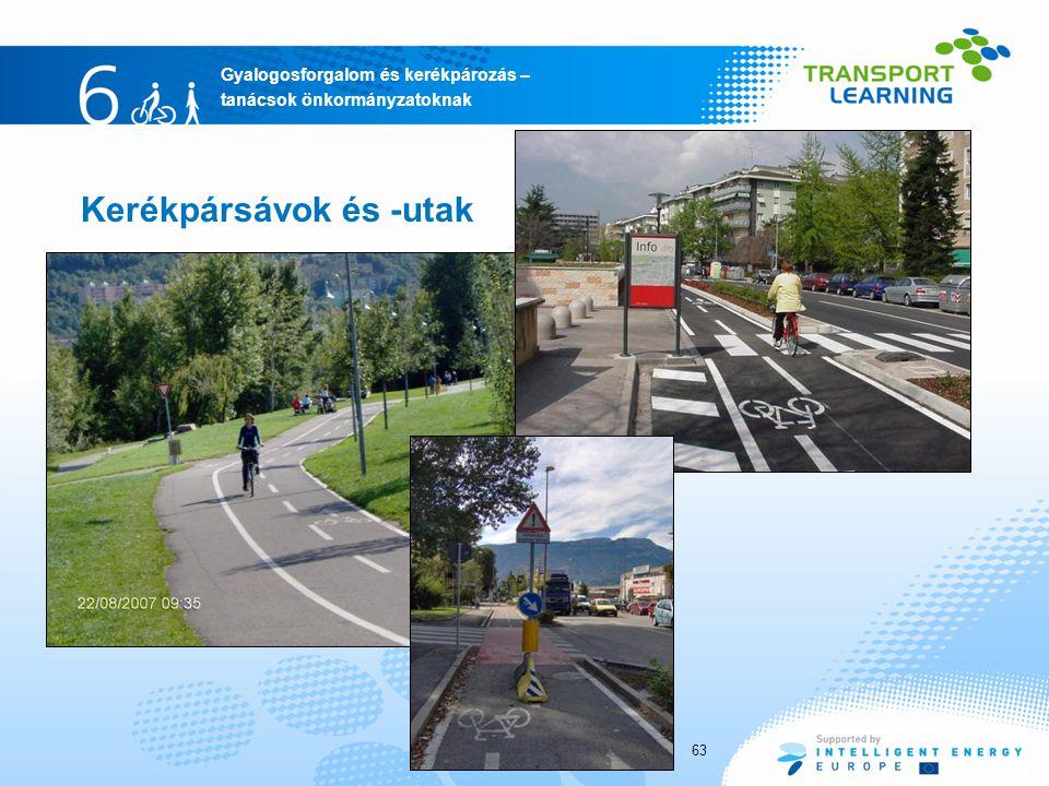 Kerékpársávok és -utak