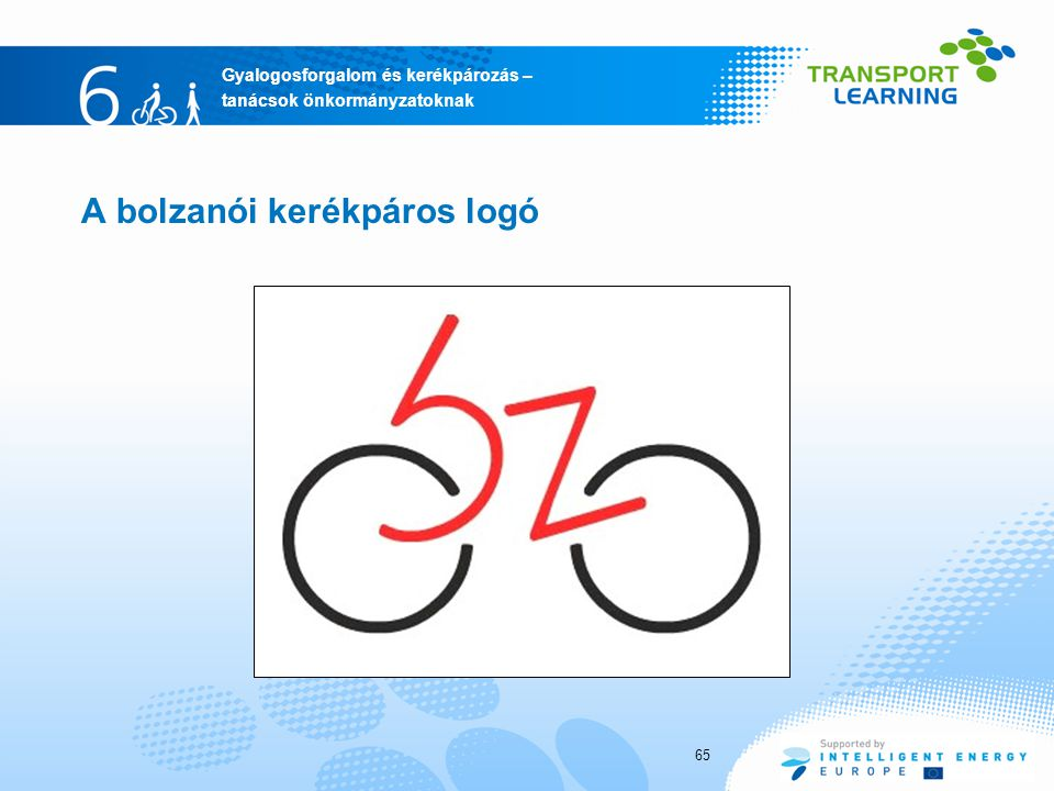 A bolzanói kerékpáros logó