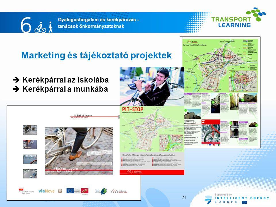 Marketing és tájékoztató projektek