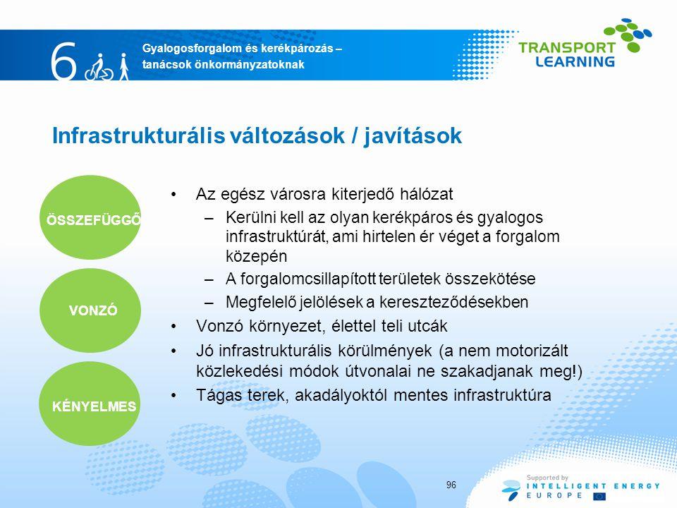Infrastrukturális változások / javítások