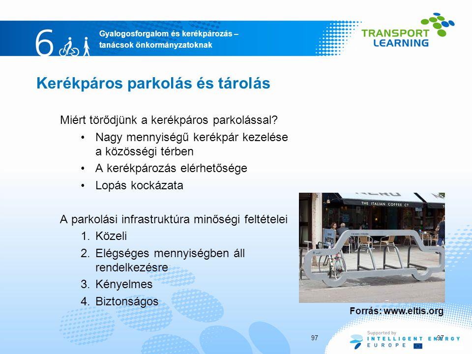 Kerékpáros parkolás és tárolás