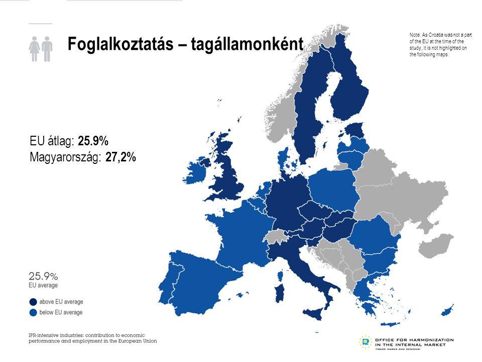 Foglalkoztatás – tagállamonként