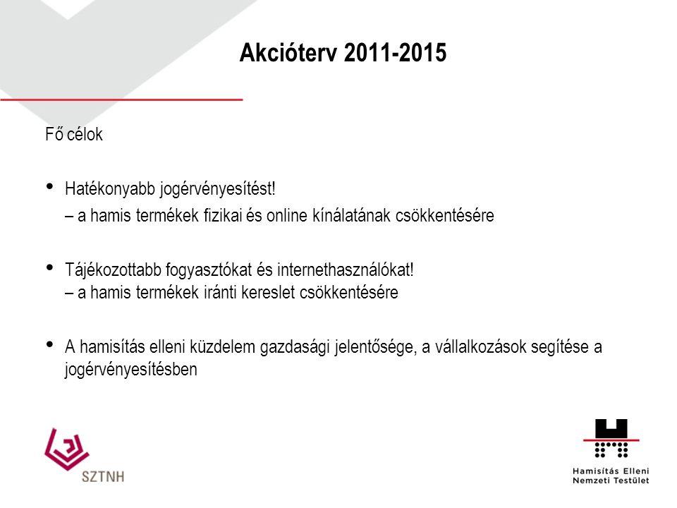 Akcióterv 2011-2015 Fő célok Hatékonyabb jogérvényesítést!