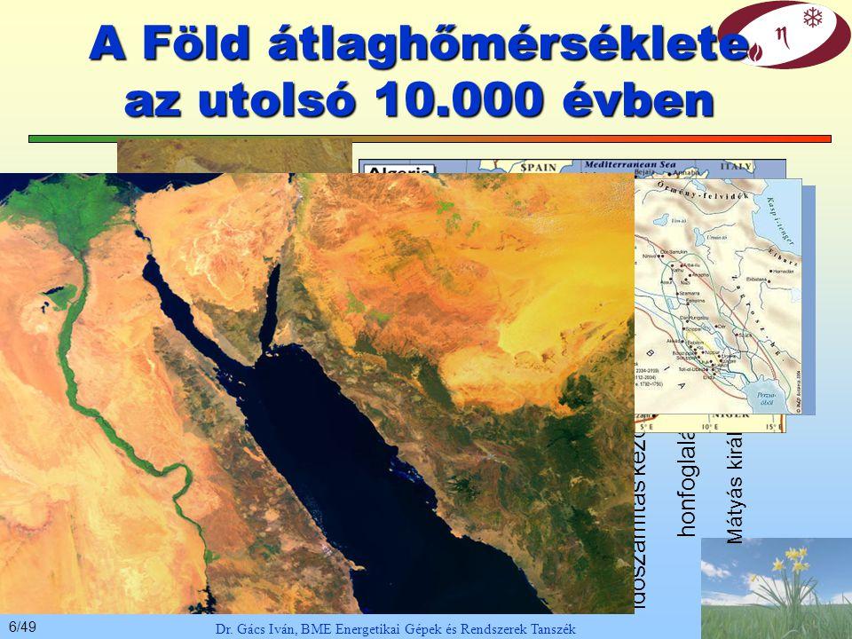 A Föld átlaghőmérséklete az utolsó 10.000 évben