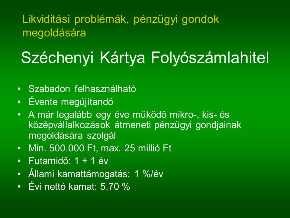 Széchenyi Kártya Folyószámlahitel