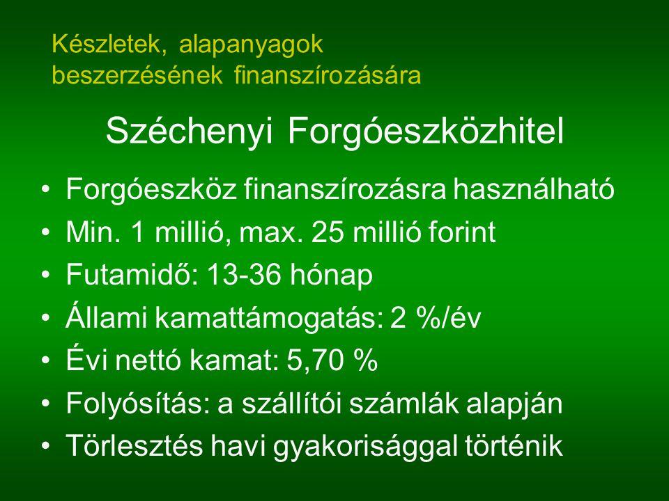 Széchenyi Forgóeszközhitel