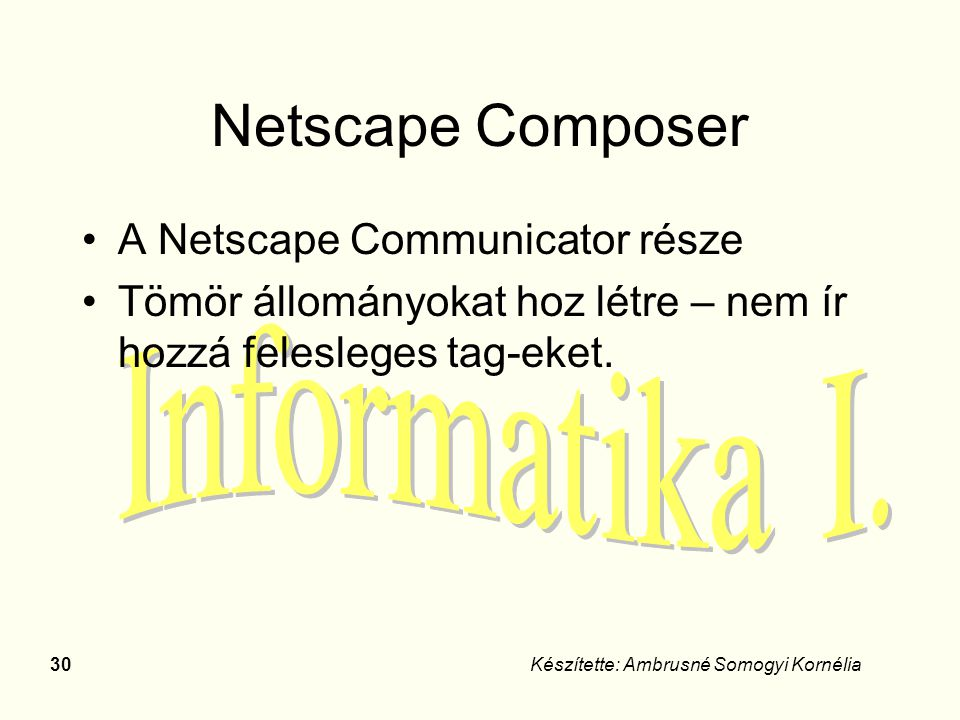 Netscape Composer A Netscape Communicator része