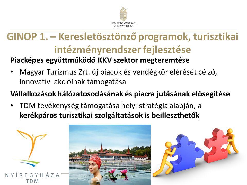 GINOP 1. – Keresletösztönző programok, turisztikai intézményrendszer fejlesztése