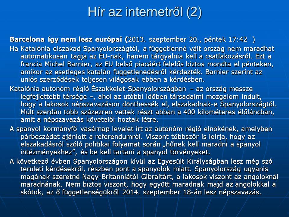 Hír az internetről (2) Barcelona így nem lesz európai (2013. szeptember 20., péntek 17:42 )