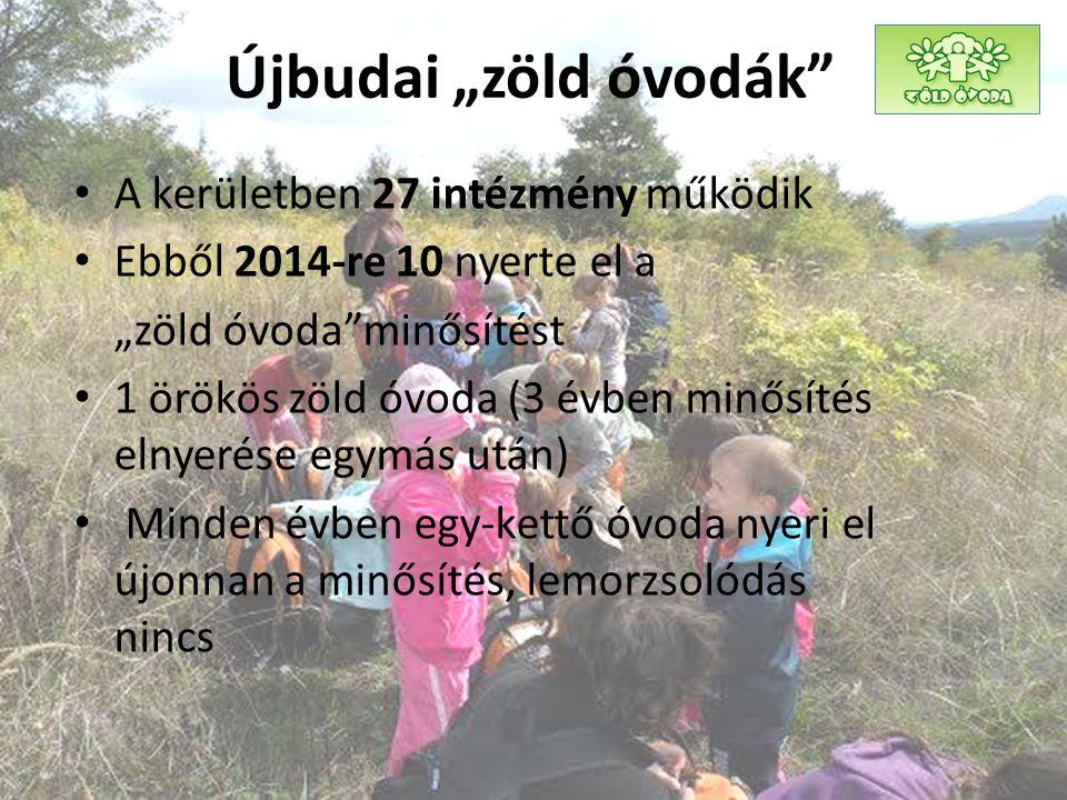 """Újbudai """"zöld óvodák A kerületben 27 intézmény működik"""