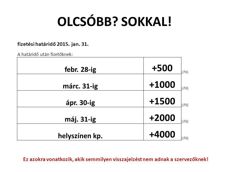 OLCSÓBB SOKKAL! +500 +1000 +1500 +2000 +4000 febr. 28-ig márc. 31-ig