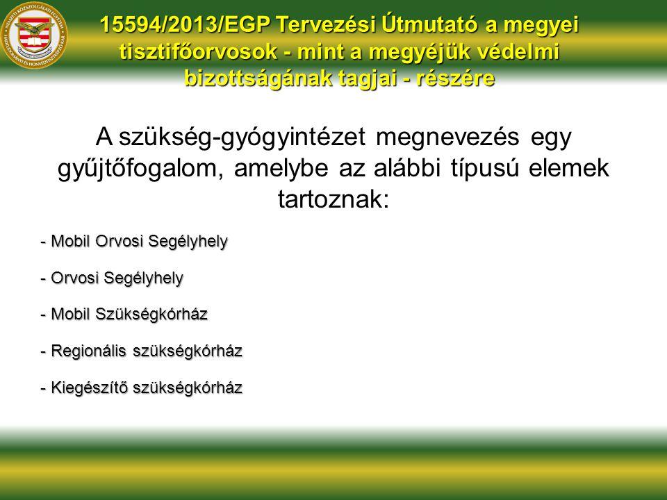 15594/2013/EGP Tervezési Útmutató a megyei tisztifőorvosok - mint a megyéjük védelmi bizottságának tagjai - részére