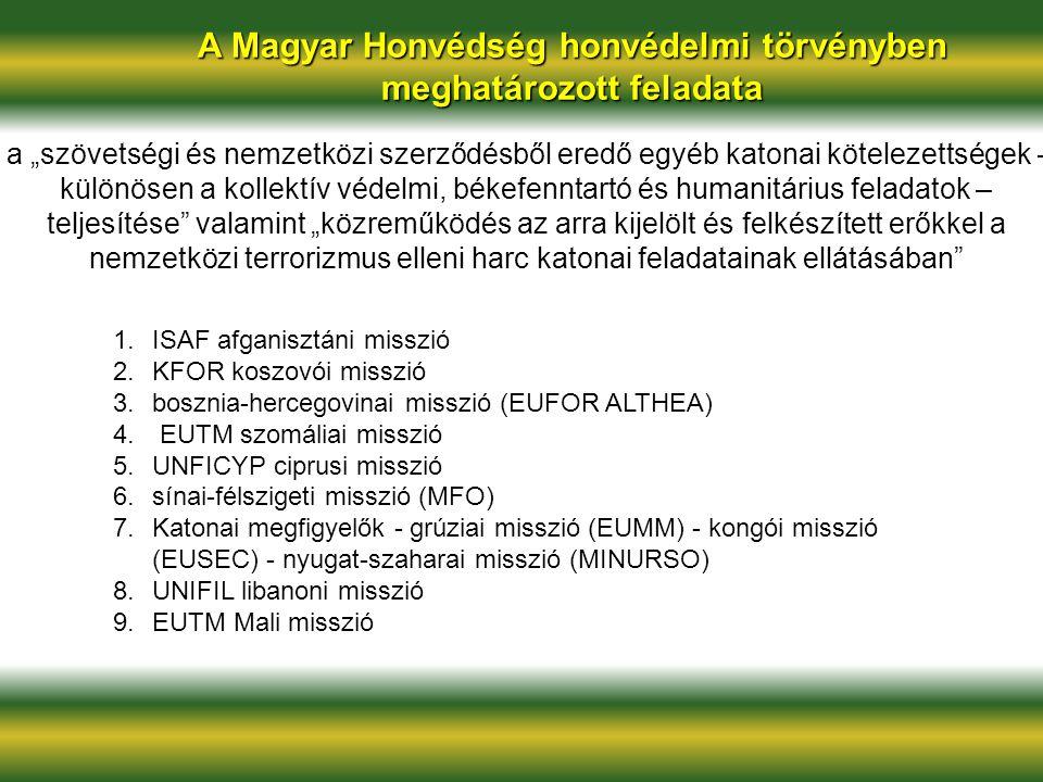 A Magyar Honvédség honvédelmi törvényben meghatározott feladata