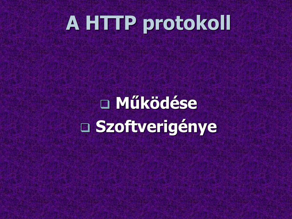 A HTTP protokoll Működése Szoftverigénye