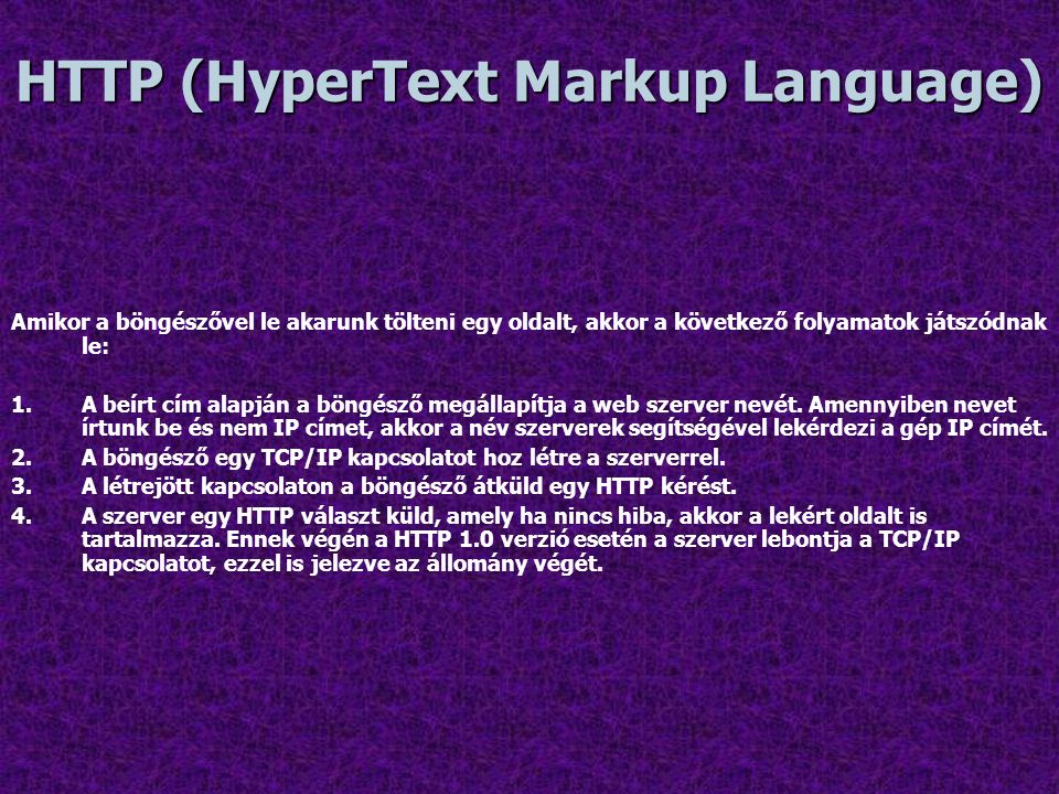 HTTP (HyperText Markup Language)