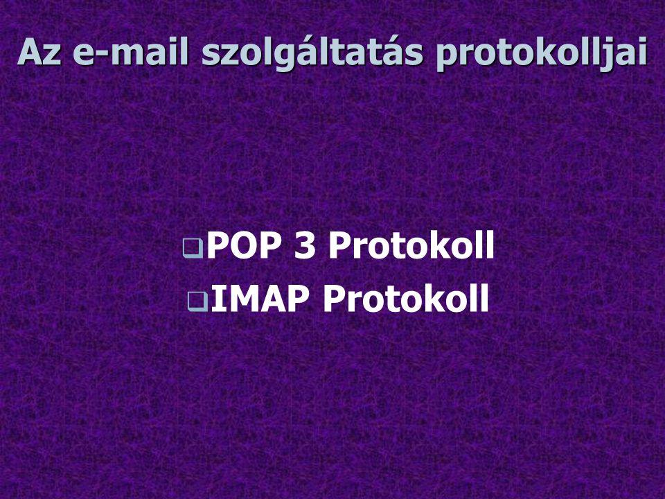 Az e-mail szolgáltatás protokolljai