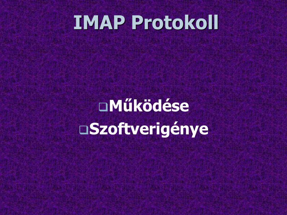 IMAP Protokoll Működése Szoftverigénye