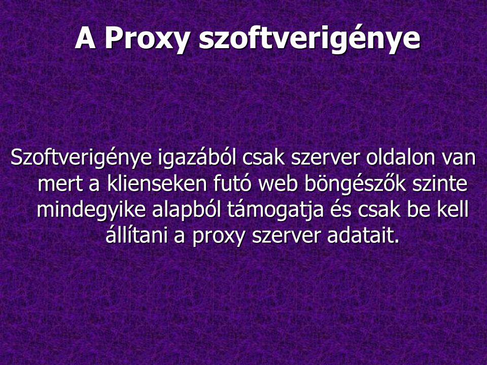 A Proxy szoftverigénye