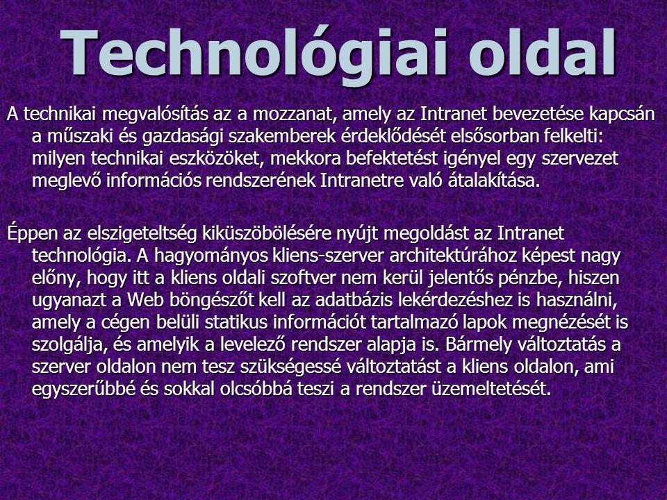 Technológiai oldal