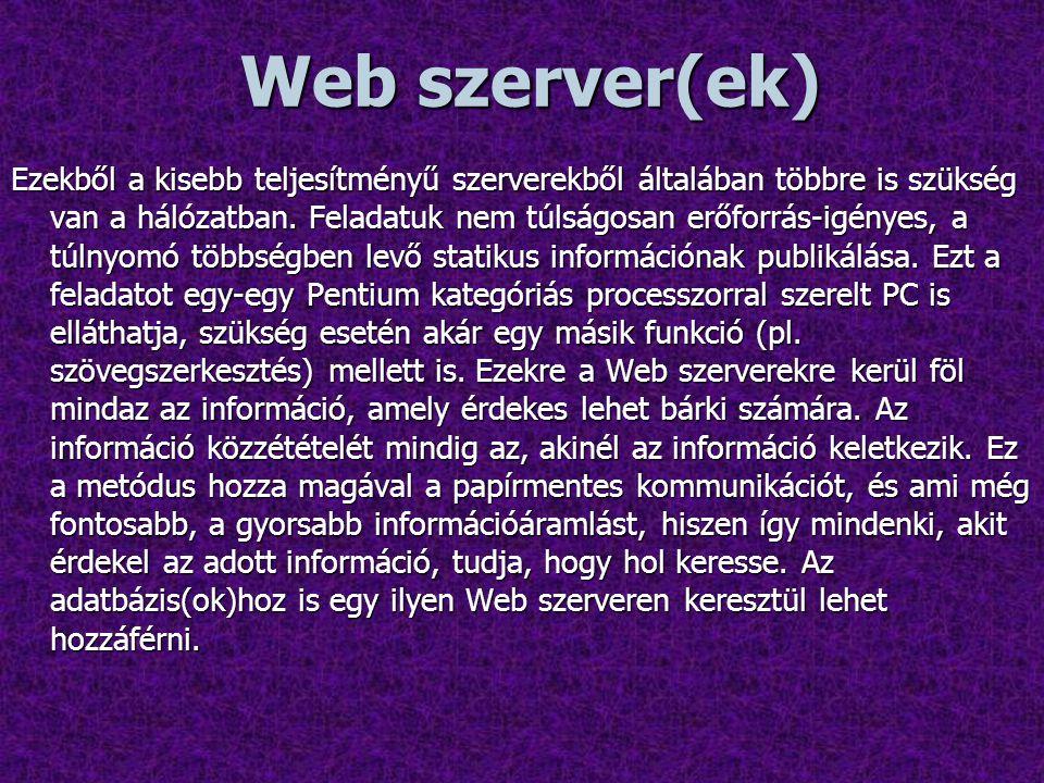Web szerver(ek)