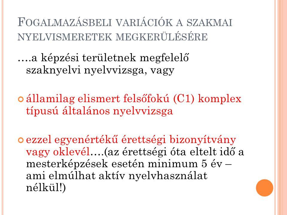 Fogalmazásbeli variációk a szakmai nyelvismeretek megkerülésére
