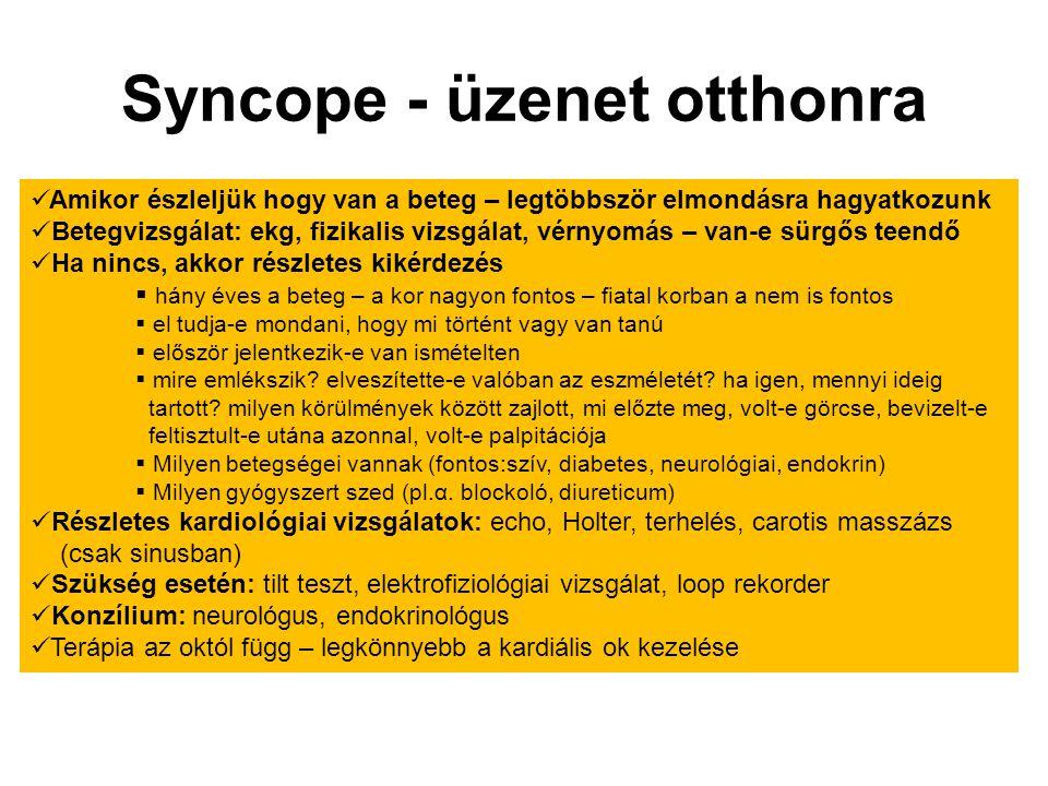 Syncope - üzenet otthonra