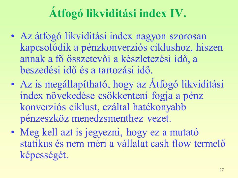 Átfogó likviditási index IV.
