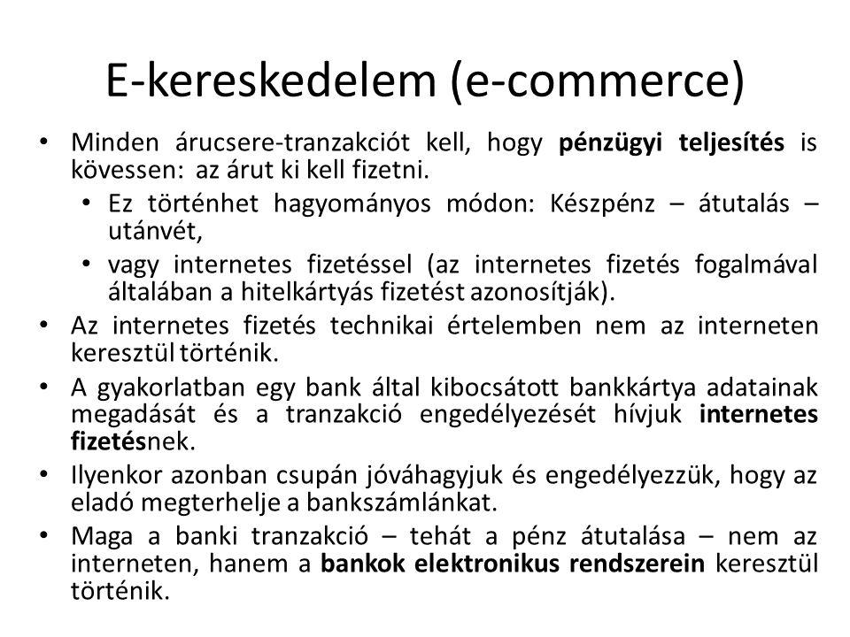 E-kereskedelem (e-commerce)