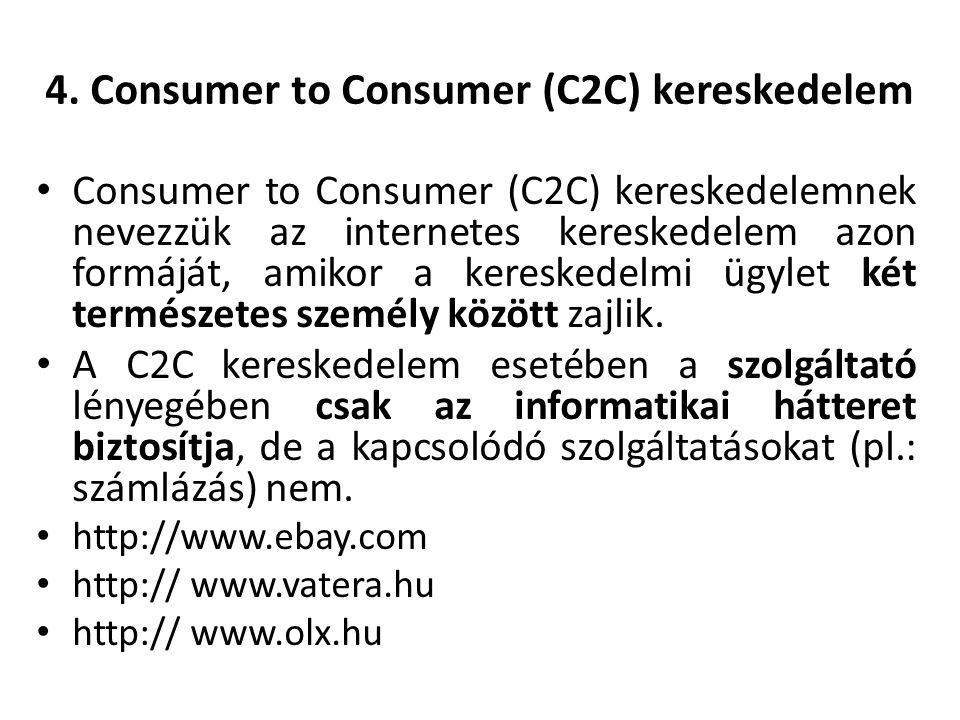 4. Consumer to Consumer (C2C) kereskedelem