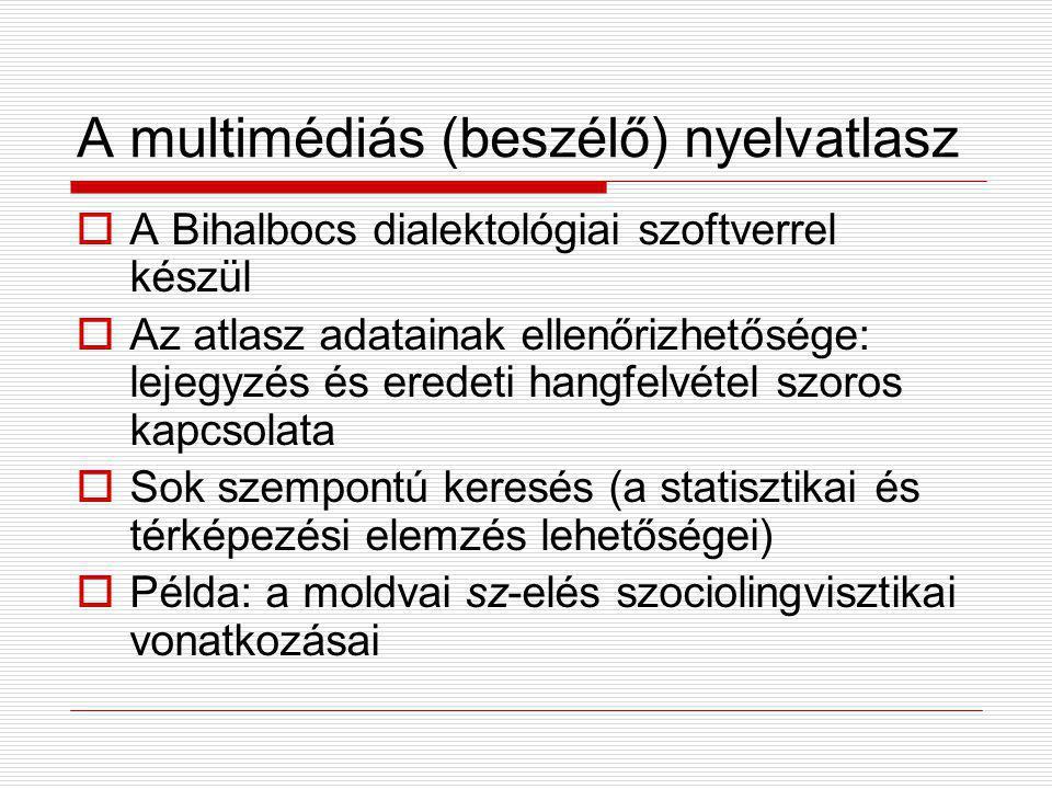 A multimédiás (beszélő) nyelvatlasz