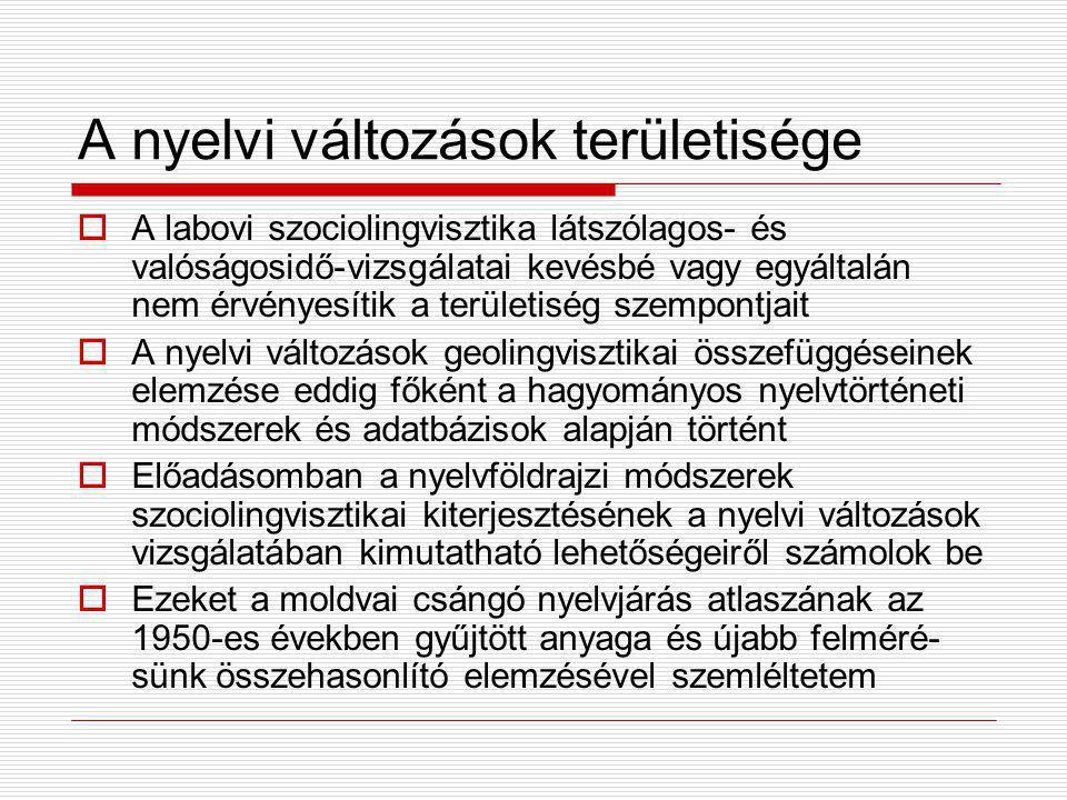 A nyelvi változások területisége