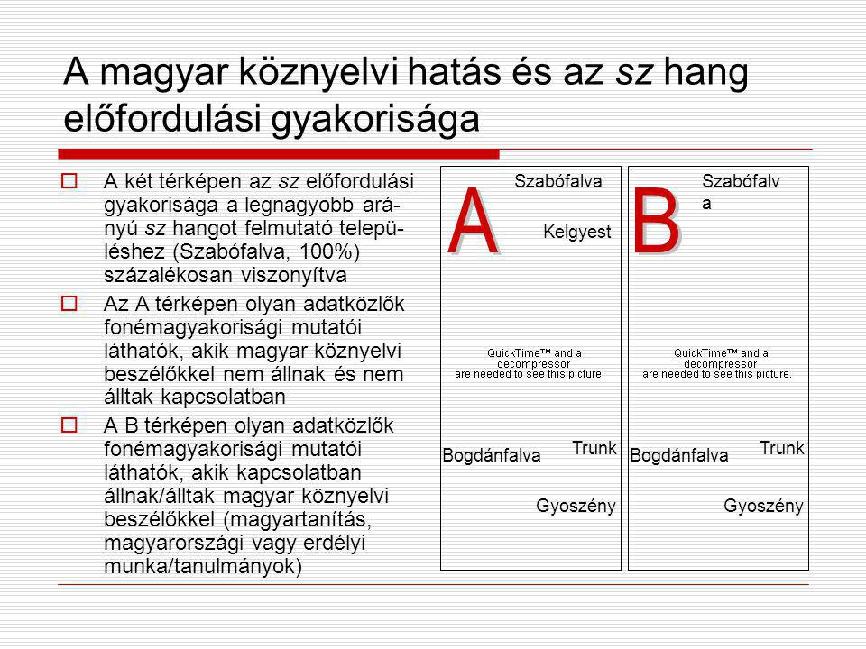 A magyar köznyelvi hatás és az sz hang előfordulási gyakorisága