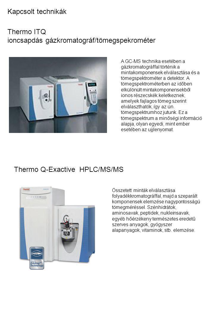 Thermo ITQ ioncsapdás gázkromatográf/tömegspekrométer