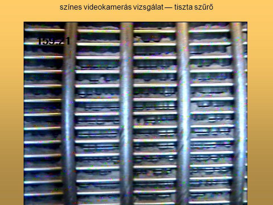 színes videokamerás vizsgálat — tiszta szűrő