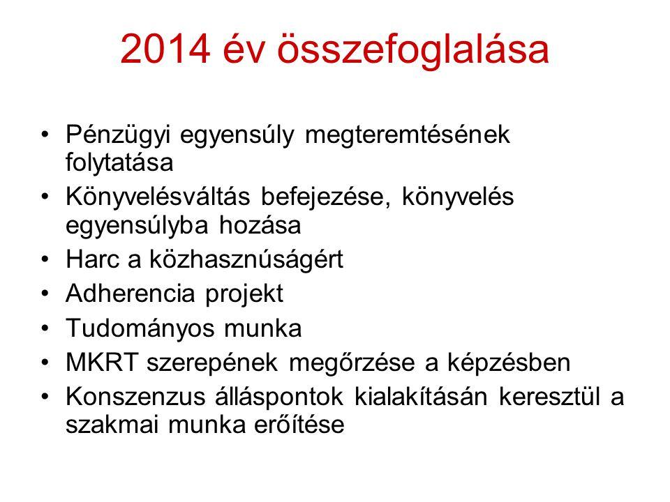 2014 év összefoglalása Pénzügyi egyensúly megteremtésének folytatása