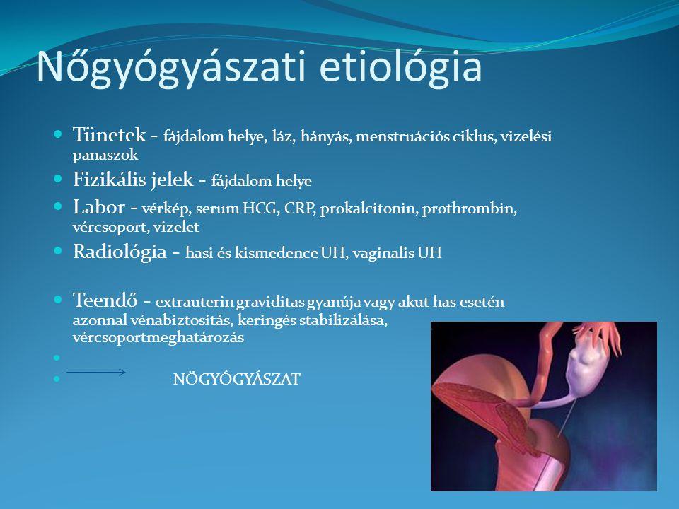 Nőgyógyászati etiológia