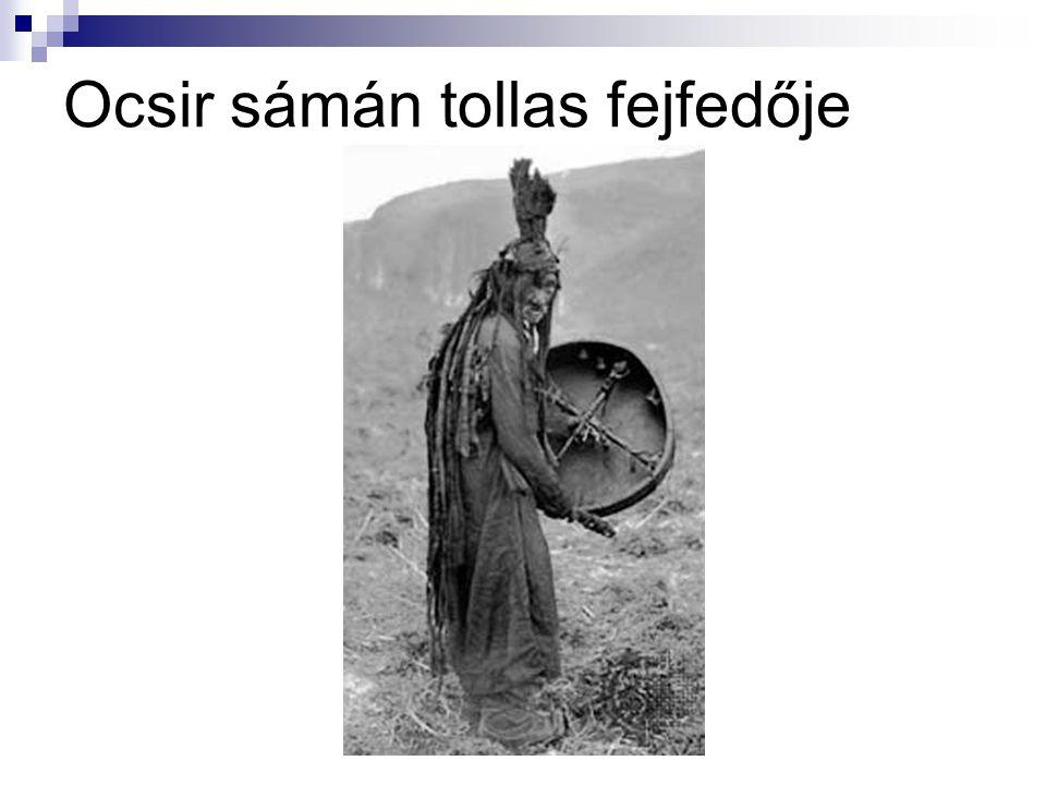Ocsir sámán tollas fejfedője
