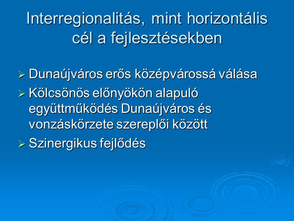 Interregionalitás, mint horizontális cél a fejlesztésekben