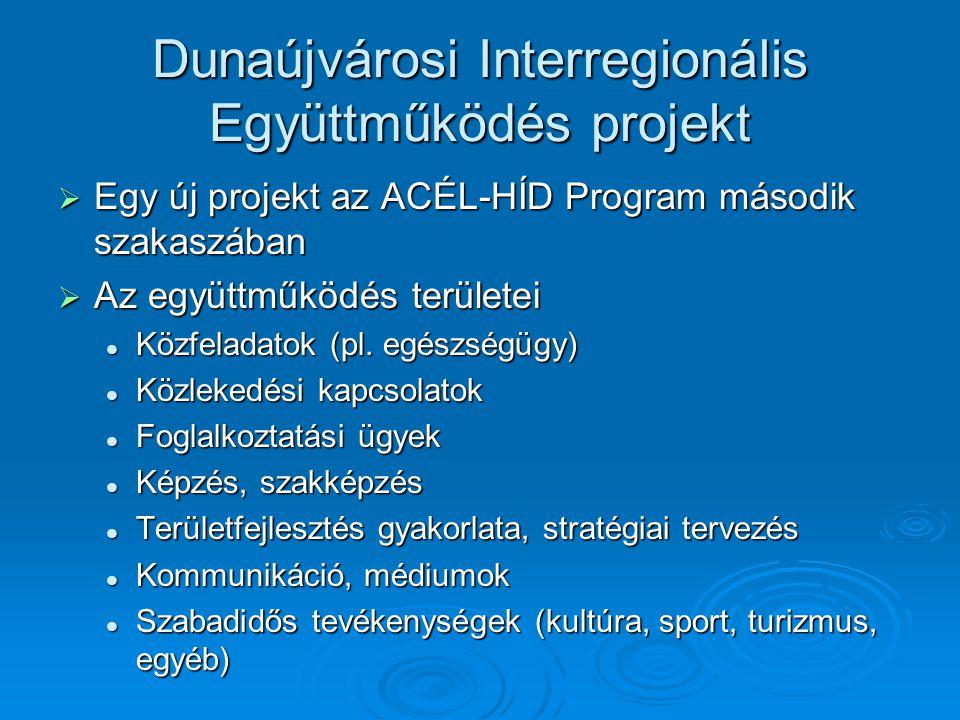 Dunaújvárosi Interregionális Együttműködés projekt