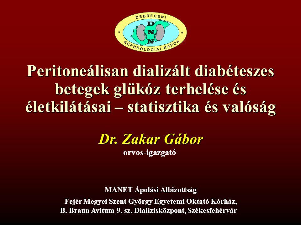 Peritoneálisan dializált diabéteszes betegek glükóz terhelése és életkilátásai – statisztika és valóság